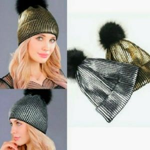 🔥HOST PICK! Liquid Metallic Knit Hats!